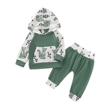 Newborn baby set 0-24M 2pcs Kids Baby Boys tracksuit Tops Hoodie T-shirt+ long Pants Outfit Clothes Set winter baby clothing D20