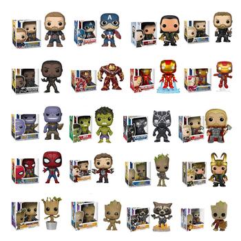 FUNKO Anime Marvel Grootted Hulk Tony Stark Iron Man Spider-Man kolekcja figurek pcv zabawki modele dla dzieci świąteczny prezent tanie i dobre opinie lalka winylowa 7-12y 12 + y CN (pochodzenie) Unisex no eat 10cm PIERWSZA EDYCJA Wyroby gotowe TMarvel Zachodnia animacja