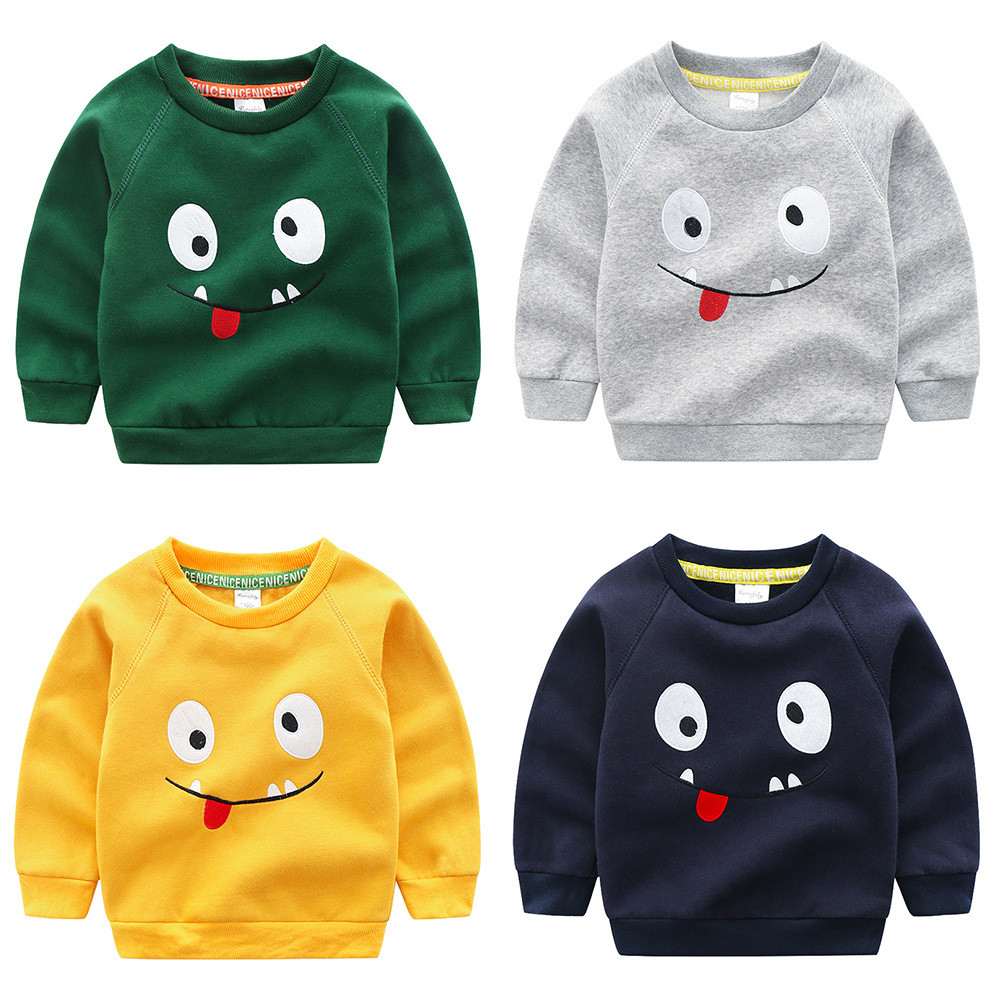 Sweater T-Shirt Top-Clothing Long-Sleeve Autumn Baby-Boys Kids Cotton Cartoon New Embroidery