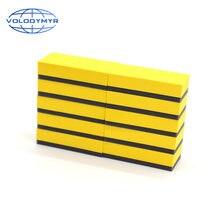 Губка с керамическим покрытием желтой ручкой из ЭВА 10 шт 8*4*2