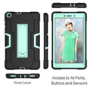 Image 3 - For Samsung Galaxy Tab A 8.0 2019 SM T290 SM T295 Tablet Case Shockproof Kids Safe PC Silicon Hybrid Stand Full Body Cover