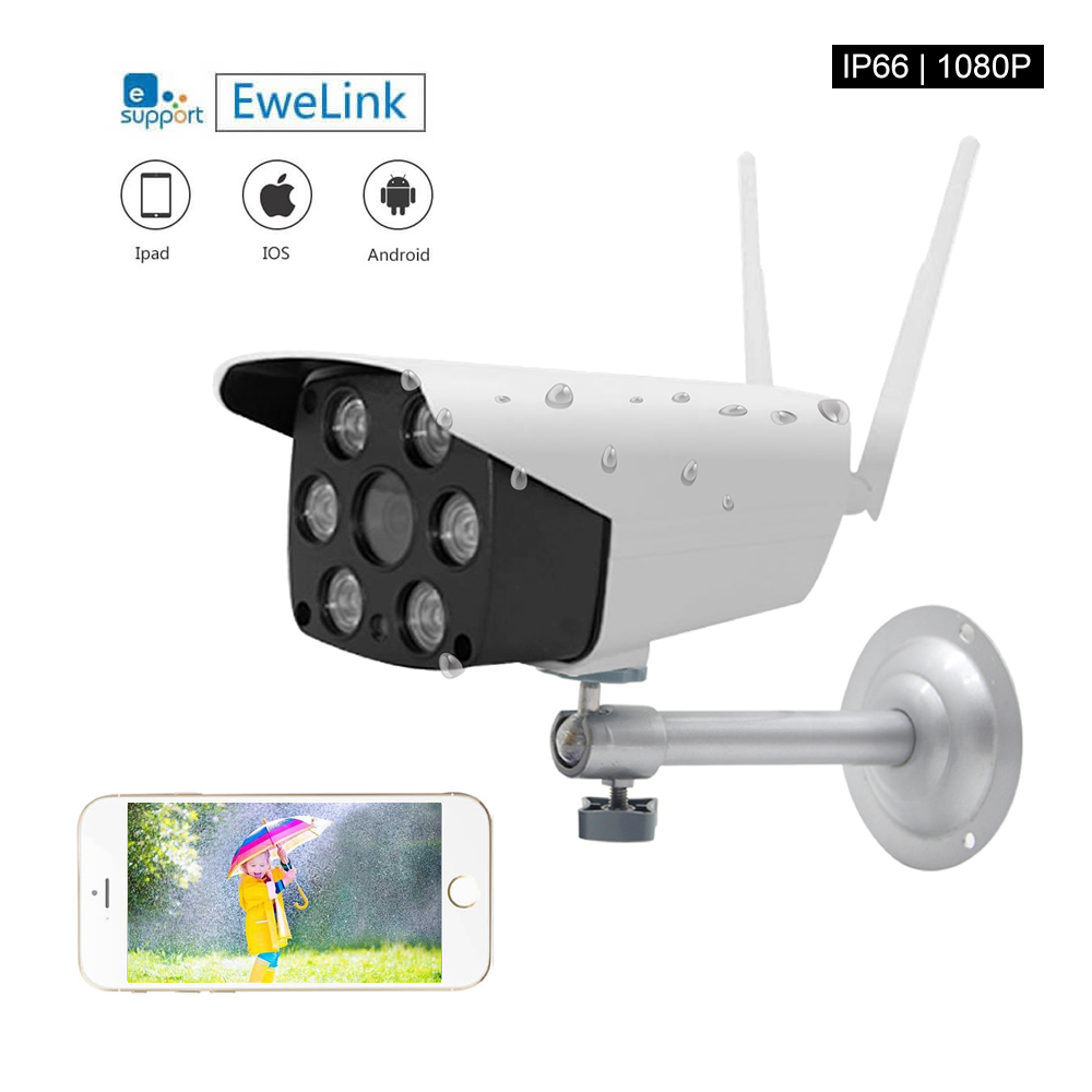 Smart Home EWelink Smart Camera 1080P HD Color Sensor IP66 Waterproof And Dustproof Outdoor Camera Intelligent New Arrival Drop