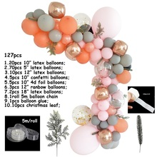 balloon chain macaroon balloons modeling baby birthday kids party wedding background wall supplies diy decorate