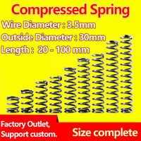 Прессованная пружина, возвратная пружина, точечная проволока, диаметр 3,5 мм/наружный диаметр 30 мм, на заказ