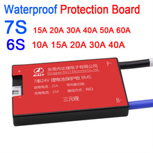 لوحة حماية بطارية ليثيوم أيون ، مقاومة للماء ، BMS 7S 6S 24V 10A  60A 18650 ، 15a 20a 30A 40A ، شحن كهربائي Li Lipo