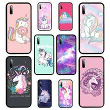 Rainbow Lovely Unicorn Phone Case For Samsung S Note20 10 2020 S5 21 30 ultra plus A81 Cover Fundas Coque