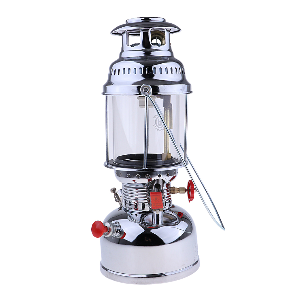 Portable Outdoor Gas Lantern That Illuminates Bright Kerosene Oil Lamps