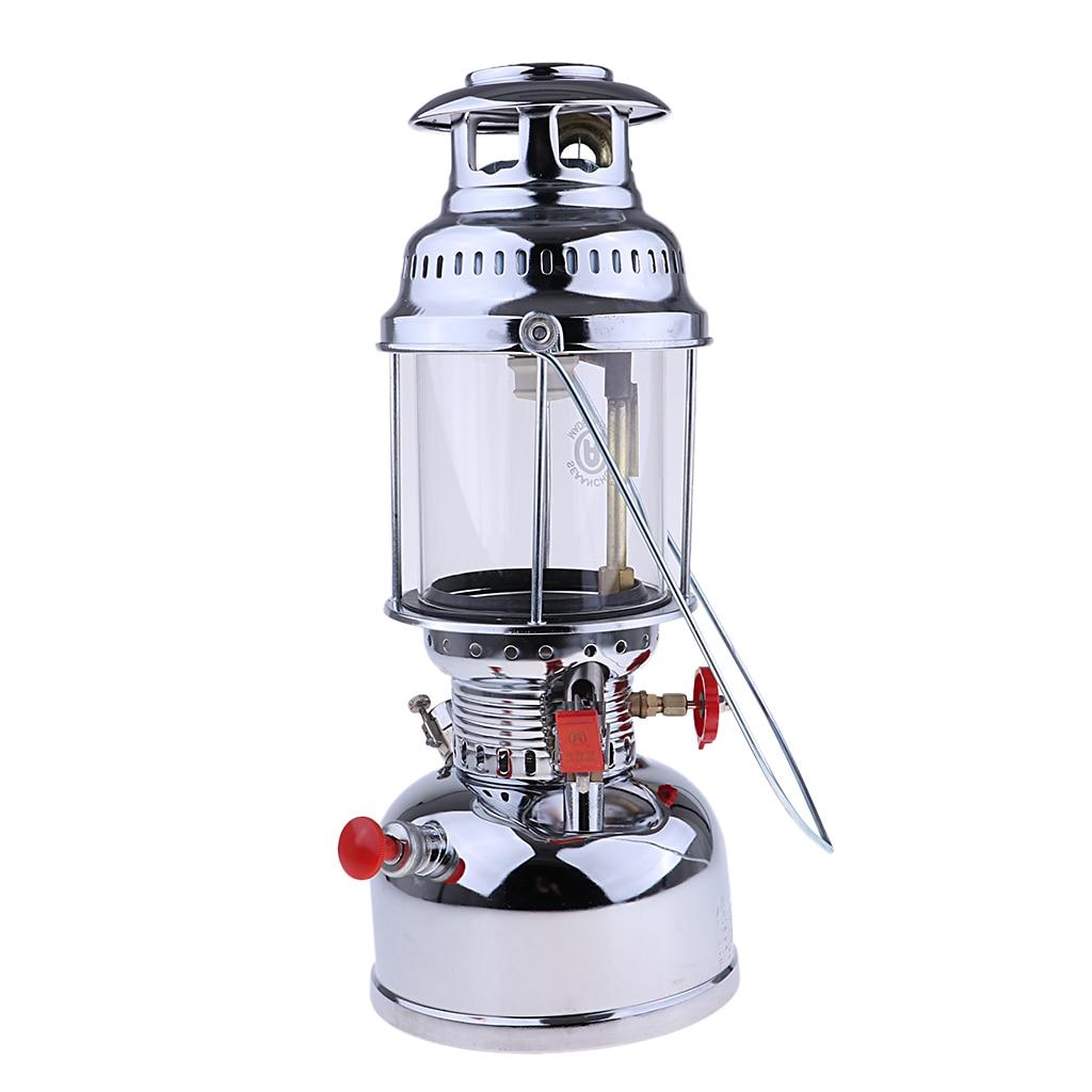 Portable Outdoor Gas Lantern That Illuminates Bright Kerosene Oil Lamps