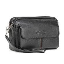 Passport Wallet Purse Phone-Bag Long-Clutch High-Quality Male Men