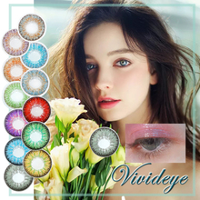 Color-Contact-Lenses Eye-Contacts-Color Blue-For Night-Of-The-Revelry VIVID Eye-1pair