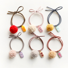 New cute hair ball band rubber elastic rope childrens head ring accessories ornaments