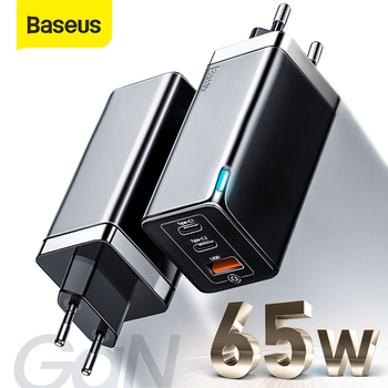 Baseus GaN PD 3.0 Fast USB Charger For iPhone 11 Pro Max Support AFC FCP SCP QC 3.0 For Samsung S10 Plus 65W Quick USB Charger