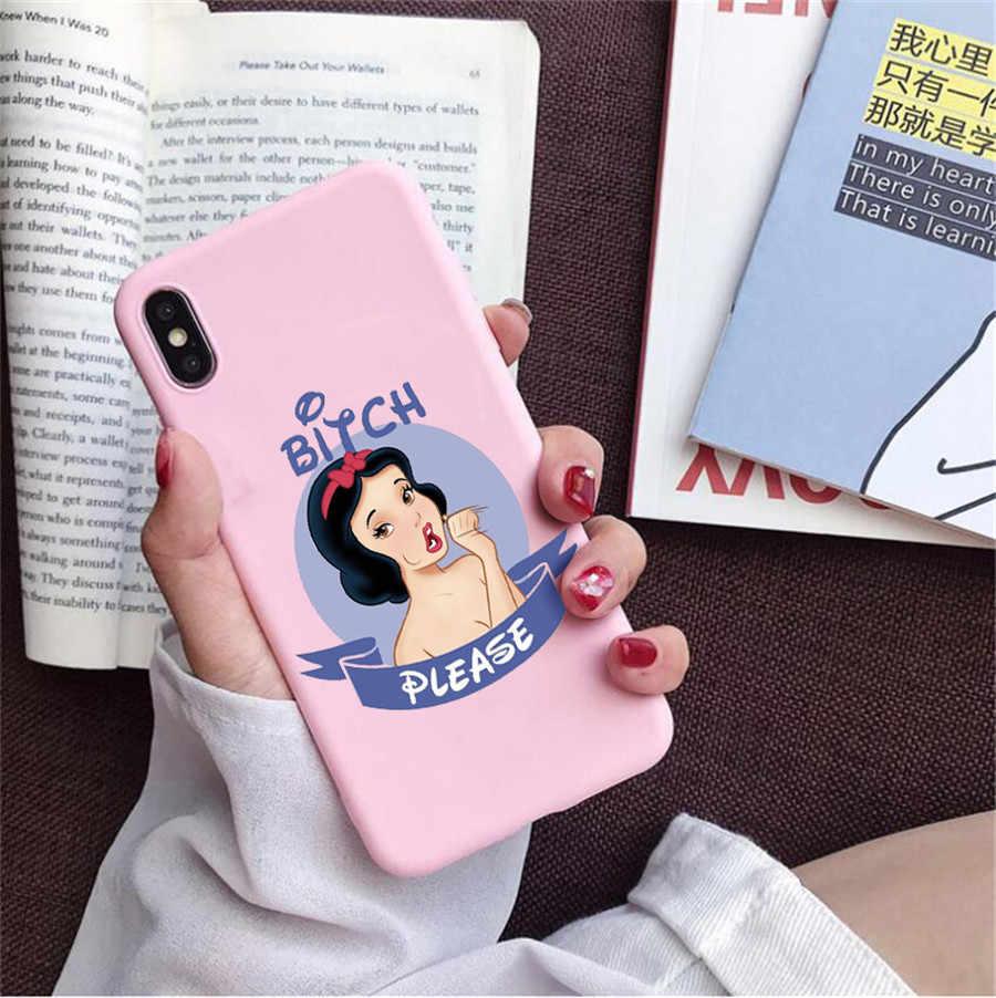 Un Bitch Please Con Las Princesitas Disneys Phone Case untuk Huawei P30 P30 Lite P20 P10 Mate 20 Pro 10 Lite honor 20 9 10 Lite