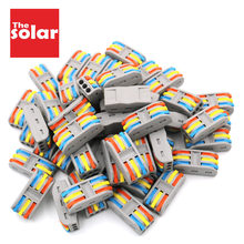 50pcs Wire Connector PCT-3-3 PIN Compact Bedrading Kabel Connector Dirigent Terminal Block Threader Splitter PCT Hendel 0.08-2.5mm2(China)