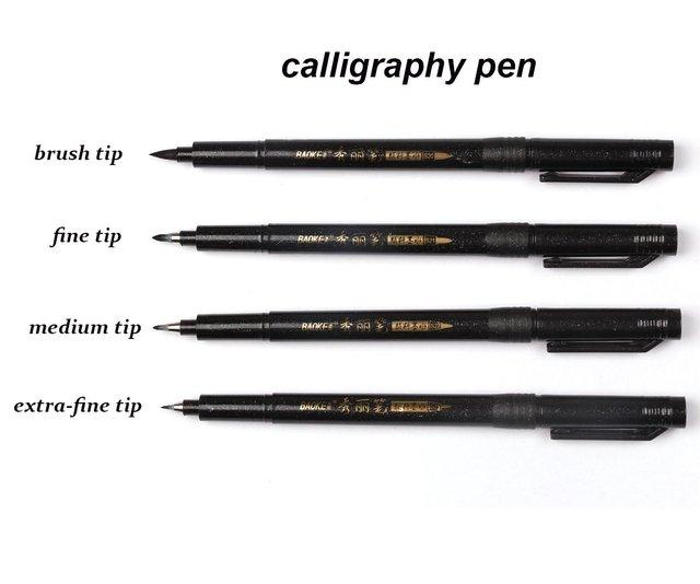 4 Pcs/lot Chinese Japanese Calligraphy Brush Pen Art Craft Supplies Office School Writing Tools 1