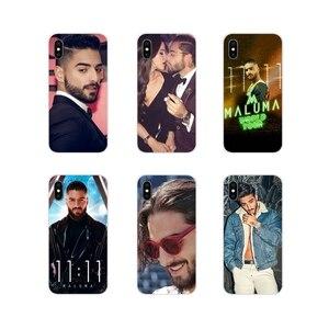 Pour Apple iPhone X XR XS 11Pro MAX 4S 5S 5C SE 6S 7 8 Plus ipod touch 5 6 Maluma Ozuna Pop Hip Hop Rappeur En Silicone Souple TPU(China)