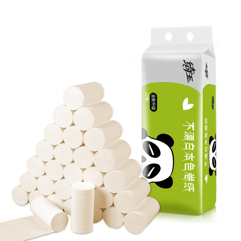 10 Rolls/Lot Coreless 3Ply Toilet Roll Paper Home Bath Toilet Roll Paper Primary Wood Pulp Toilet Paper Household Safety Tissue
