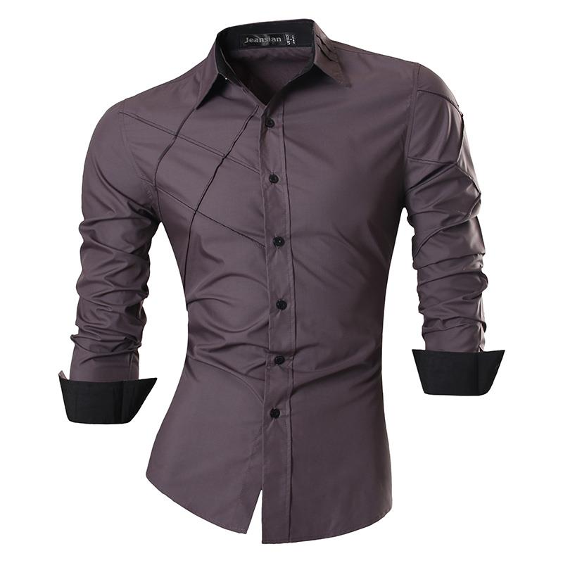 H0ae56d04ef704d2280e8e085b19b4970q - Jeansian Spring Autumn Features Shirts Men Casual Jeans Shirt New Arrival Long Sleeve Casual Slim Fit Male Shirts Z030