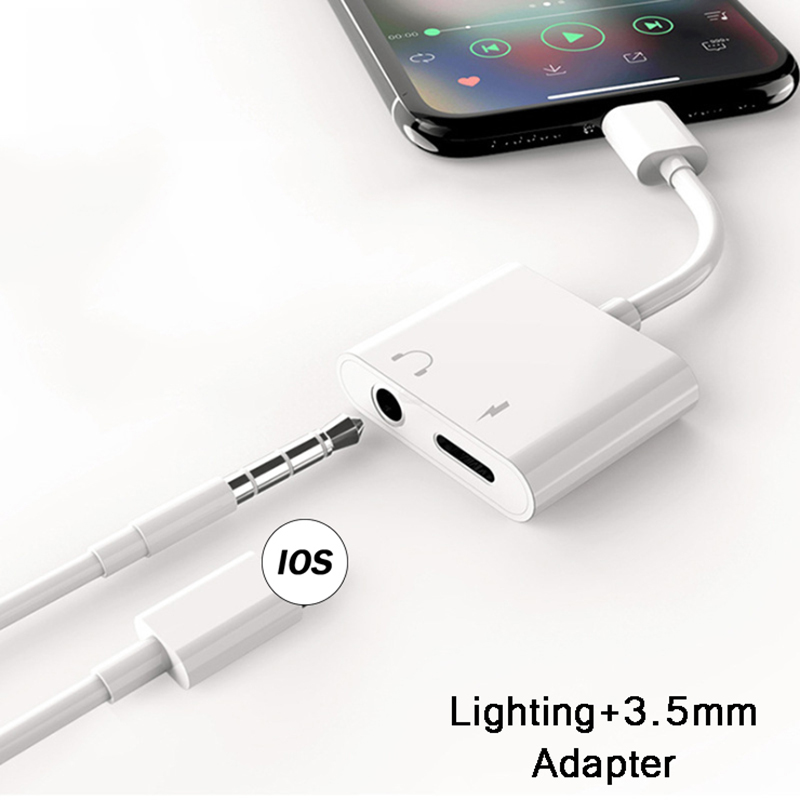 3.5mm Jack Headphone 2 IN 1 Adapter For Smart Phone Earphone AUX Audio Charging Splitter
