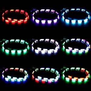 Image 3 - ضوء تحذير الزجاج الخلفي للسيارة ، مصباح شريط LED RGB مع التحكم في الموسيقى ، للجزء الداخلي للسيارة