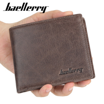 2020 NEW Genuine Cow Leather Men Wallets High Quality Short Desigh Card Holder Male Purse Vintage Photo Holder Men Wallets genuine cow leather men wallets rfid double zipper card holder high quality male wallets purse vintage coin holder men wallets
