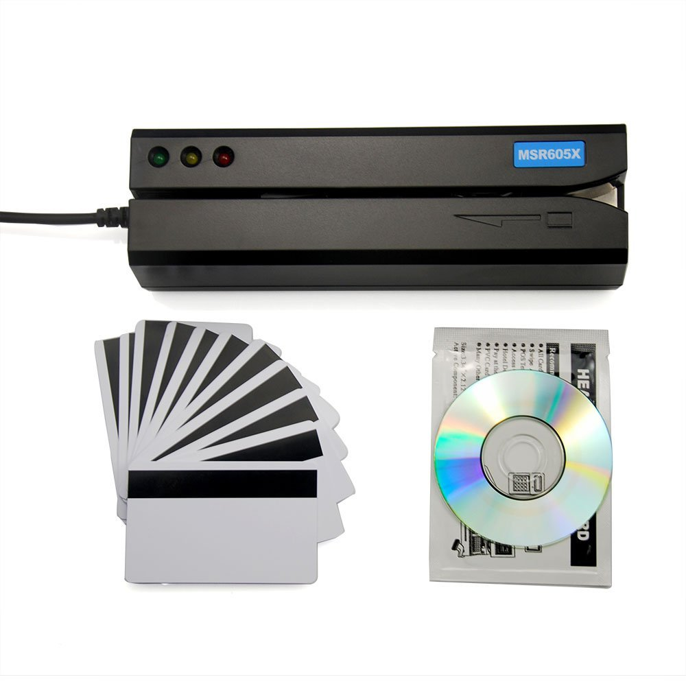 Dehtun Nuevo MSR605X Lector De Tarjetas USB Con Adaptador Interior Compatible Con Windows Mac MSR606i Msr605 Msr X6 Msr900 Msrx6bt