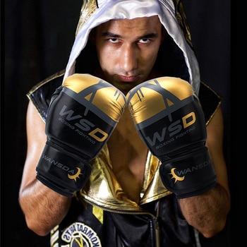 Kick Boxing Gloves for Men Women PU Karate Muay Thai Guantes De Boxeo Free Fight