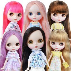 Blyth Doll Blyth Matte Face Frosted White Skin 1/6 BJD Ball Jointed Doll Custom Dolls for Girl Gift for Doll Collection