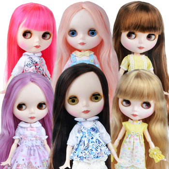 Blyth Doll Blyth Matte Face Frosted White Skin 1/6 BJD Ball Jointed Doll Custom Dolls for Girl Gift for Doll Collection [wamami] for 12 neo blyth doll 7 joints purple short wig matte face