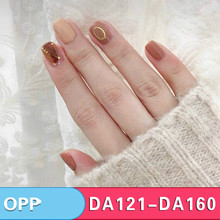 2019 Leopard Nail Polish  Waterproof Sticker Nails Oil Film Can Tear Colorful Environmental Protection 14 Stickers Customized