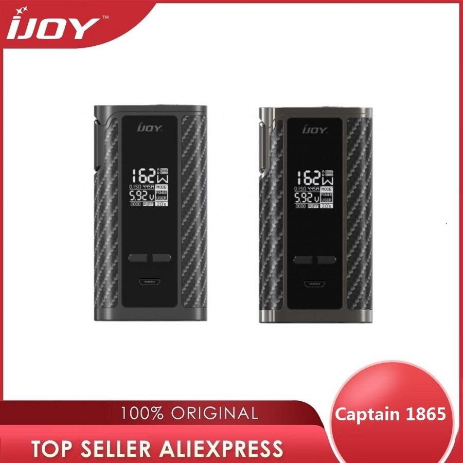 Original 162W IJOY Captain 1865 TC Box MOD alimenté par double batterie 18650 Max 162W sortie Cigarette électronique Vape Mod Vs PD1865