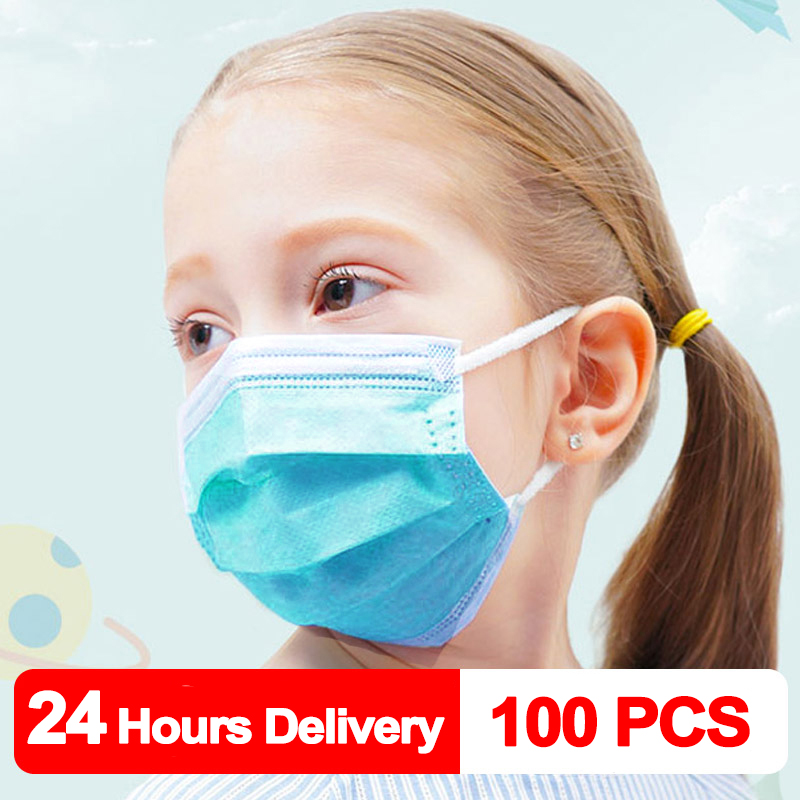100 PCS Children Mask Fast Delivery Disposable Protective Mask To Safety Mask Dustproof Kids Masks Child Prevent Disease Mask