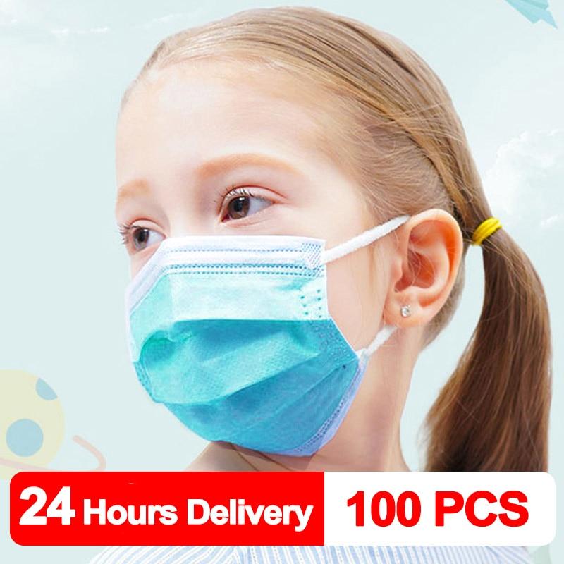 100 PCS Children Mask Fast Delivery Disposable Protective Mask To Safety Mask Dustproof Kids Masks Child Prevent Disease Mask