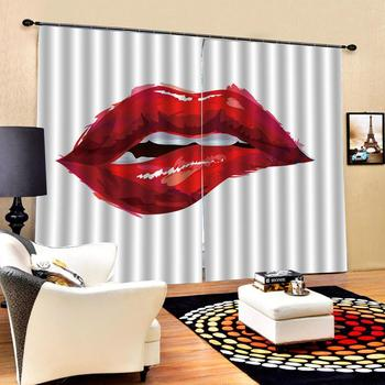 red romantic curtains Luxury Blackout 3D Window Curtains For Living Room Bedroom Customized size