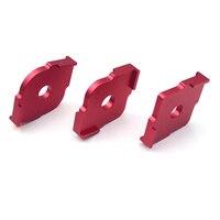 3pcs Wood Panel Radius Quick Jig Router Table Bits Engraving Machine Trimmer Jig Corner Templates Kit Aluminum alloy