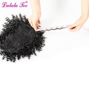 Image 5 - Синтетические кудрявые вьющиеся волосы 6 дюймов, парик конский хвост ананаса, накладные волосы пучок, шиньон, челка, наращивание волос на клипсе