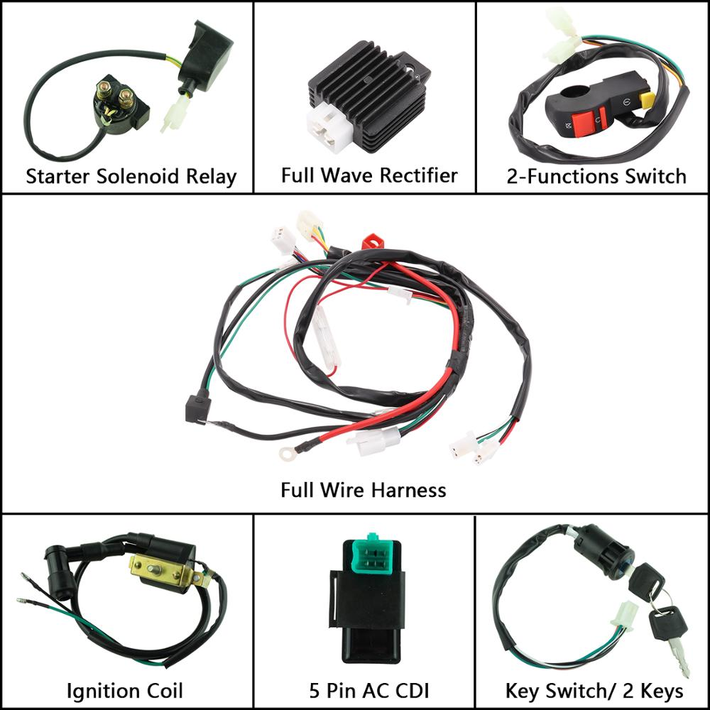 New Motorcycle CDI Wiring Harness Loom Ignition Solenoid ... on spark plugs for motorcycles, fuel injection kits for motorcycles, led tail lights for motorcycles, battery box for motorcycles, rear turn signals for motorcycles, ignition switches for motorcycles, brake lights for motorcycles, side marker lights for motorcycles, electric fan for motorcycles, led strobe lights for motorcycles, headlight bulbs for motorcycles, aftermarket headlights for motorcycles, oil lines for motorcycles, throttle control for motorcycles, cigarette lighter for motorcycles, led light kit for motorcycles, rolling chassis for motorcycles, front forks for motorcycles, wire connectors for motorcycles, license plate holder for motorcycles,