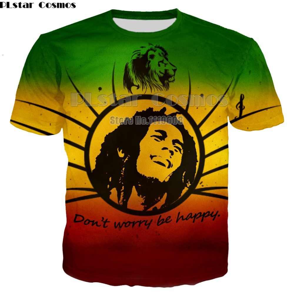 Yeni yaz moda yeni Hip hop t-shirt Reggae originator Bob Marley 3d baskı erkekler kadınlar casual o-boyun t shirt üst 7XL