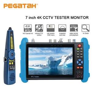 7 pouces H.265 4K caméra IP testeur de vidéosurveillance moniteur testeur de caméra analogique support intégré wifi TDR UTP RJ45 câble test testeur de vidéosurveillance