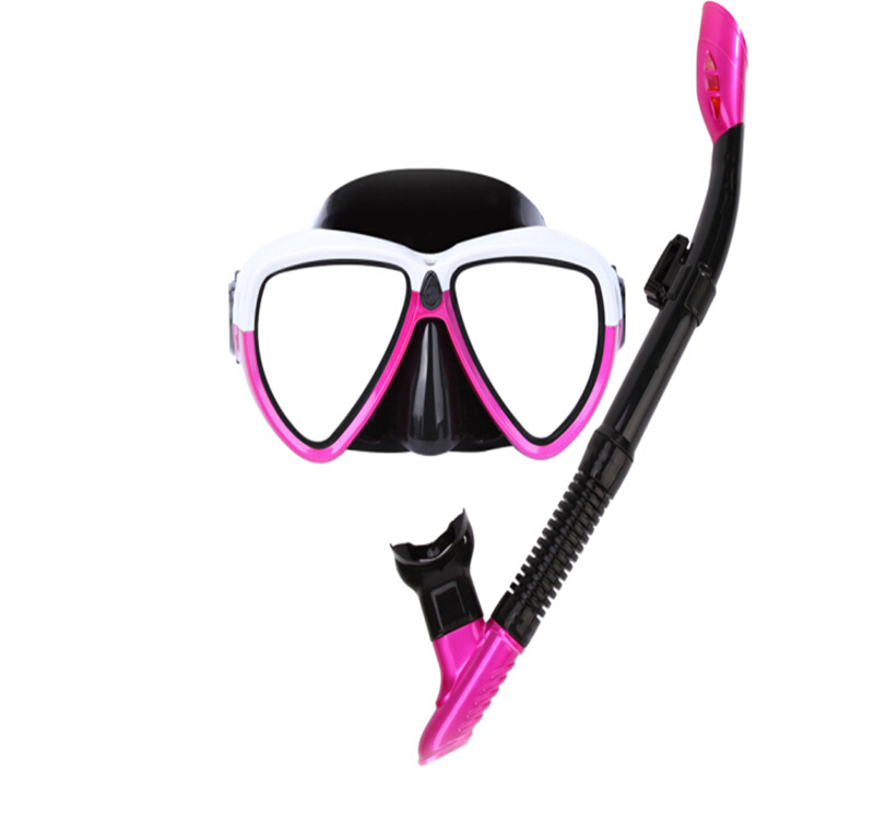 New Style Adult Two-Piece Set Diving Googles Silicone Breathing Tube Anti-fog Diving Swimming Goggles Snorkeling GoPro Mask