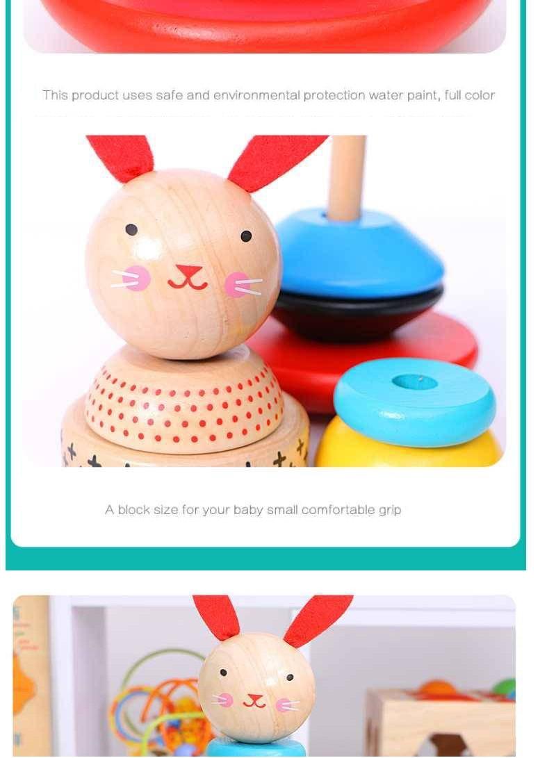 madeira para crianças criativo arco-íris blocos de