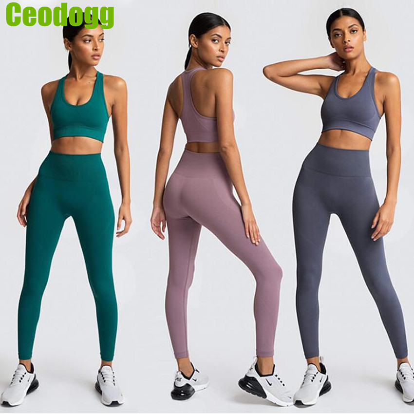 12Colors Hyperflex Seamless Yoga Set Sportswear Sports Bra Fitness Yoga Pants Gym Running Outfit Clothing Athletic Tracksuit image