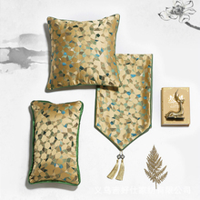 Luxury New Chinese Satin Pillowcase Jacquard Weave Geometry Colorful Plaid Cushion Cover Sofa Bedroom Art Home Decoration 1 PC