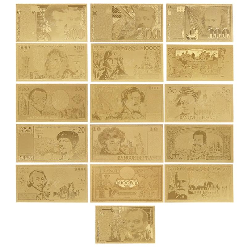 Hurtownie 1956 rok francja złote europejskie banknoty fałszywe papierowe pieniądze Bill 1987 rok/1994 rok banknot prezenty dla mężczyzn Dropshipping