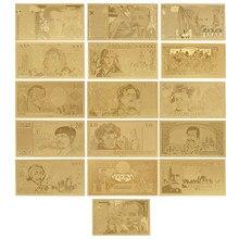 Venta al por mayor 1956 año de Francia billete de Euro de oro papel falso dinero Bill año 1987/1994 año Banco regalos para hombres Dropshipping. Exclusivo.