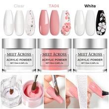 10 мл акриловая пудра для наращивания ногтей французский розовый, белый, прозрачный клей стразы для дизайна ногтей