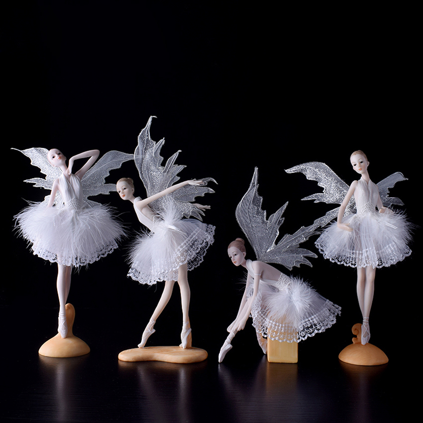 European resin Ballet angel creative Figurines & Miniatures lovely girl's gift handmade Furnishing Articles home wedding decor|miniature love|decorative decorative|decorative home decor - title=