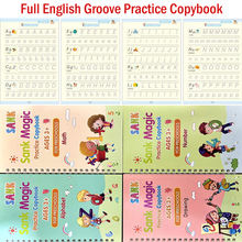 Copybook Learning-English Children's Book-Handwriting Practice-Book Groove Kids for Word