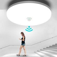 Plafonnier avec détecteur de mouvement PIR, luminaire de plafond, lumière blanche chaude/froide moderne, idéal pour un couloir, idéal pour un salon, 9/13/18/24/36W, LED/220V