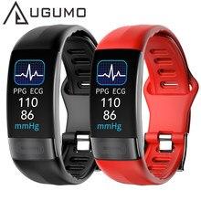 Смарт-браслет UGUMO ECG + PPG, измерение температуры тела, артериального давления, пульсометр, смарт-браслет, фитнес-трекер, спортивный смарт-брас...